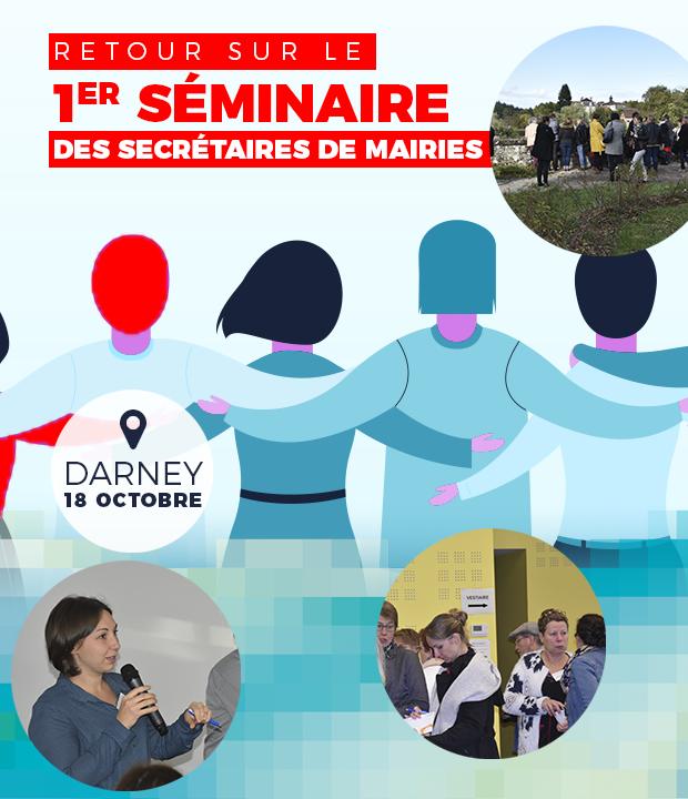 RETOUR SUR : le Séminaire des Secrétaires de Mairies, le 18 Octobre 2019 à DARNEY