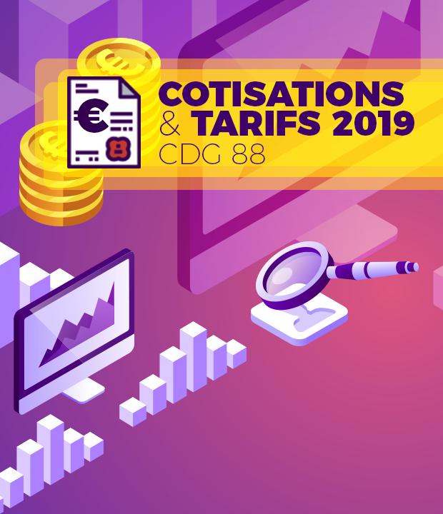 Taux de cotisations et tarifs des prestations du CDG88 pour 2019