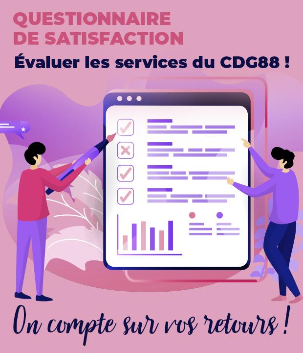 Les services du CDG88 en 2020 : sondage de satisfaction