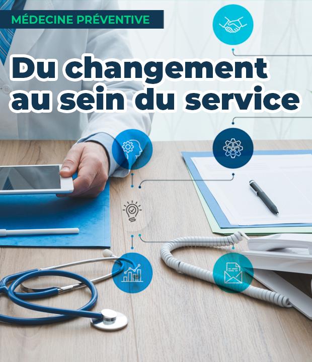 Du changement au sein du service de médecine préventive