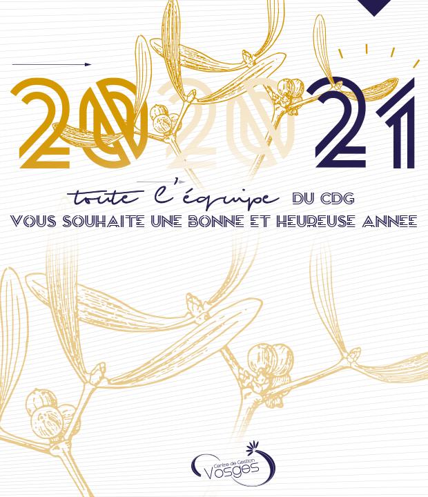 Meilleurs vœux pour 2021 ! Modification des horaires d'accueil