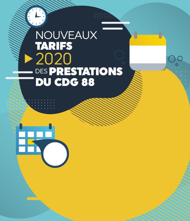 Offre de services du CDG88: tarifications et cotisations pour 2020